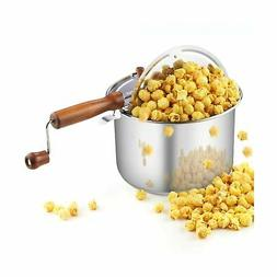 Cook N Home 02627 Stainless Steel Stovetop Popcorn Popper, 6