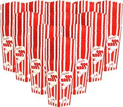110 Individual Disposable Popcorn Boxes with Old Fashion Vin