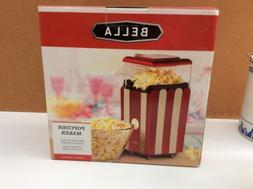 BELLA 13554 Hot Air Popcorn Maker, Red and White...NEW!