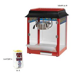Paragon 1911 4 Oz. Popcorn Machine Domestic Red Theater Styl