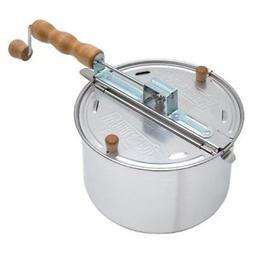 2-Lb Indoor Kitchen Heavy Duty Stovetop Popcorn Popper Cooke