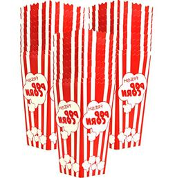 "30 Popcorn Boxes, 7.75"" Inches Tall and Holds 46 Oz. with Ol"