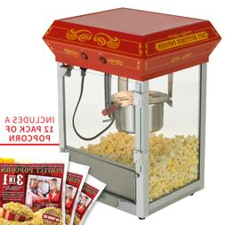 FunTime 4oz Theater Style Tabletop Popcorn Popper Machine Ma