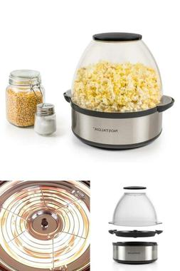 Nostalgia 6-Quart Stainless Steel Stirring Speed Popcorn Pop