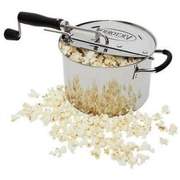 Victorio 6-Quart Stainless Steel StovePop Popcorn Popper