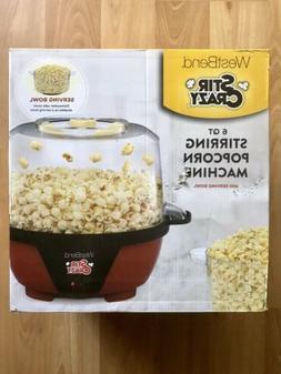 6-Quart Stir Crazy Electric Hot Oil Popcorn Popper Machine R