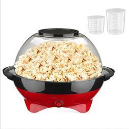 6QT Popcorn Popper Machine Electric Hot Oil Stirring Popcorn