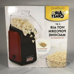 West Bend 82418BK Air Crazy Hot Air Popcorn Popper Pops Up T