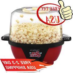 82505 Stir Crazy Electric Hot Oil Popcorn Popper Machine, 6-