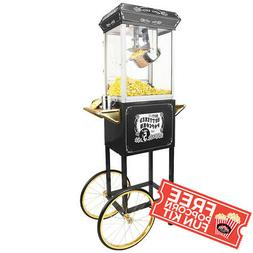 8oz black gold popcorn popper machine maker