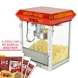 8oz tabletop theater style popcorn popper machine