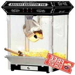 FunTime 8oz Tabletop Theater Style Popcorn Popper Machine +
