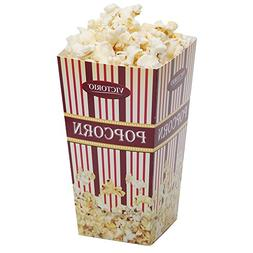 Burgundy Popcorn Boxes 10-Pack by VICTORIO VKP1165