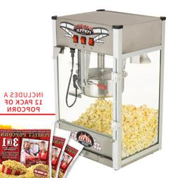 Funtime Palace Popper 8 OZ Commercial Bar Style Popcorn Popp