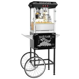 Hot and Fresh Popcorn Popper Machine With Cart-Makes Approx.
