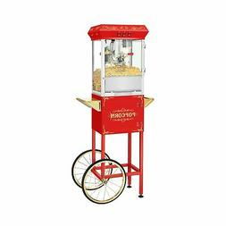 Movie Night Popcorn Popper Machine With Cart-Makes Approx. 3
