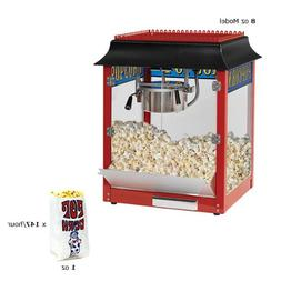 Paragon 1911 8 oz. Black/Chrome Popcorn Machine