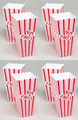 Set of 8 Popcorn Plastic Container Box Tub Bowl - Presentati