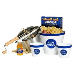 Wabash Valley Farms Real Theater Whirley Pop Stovetop Popcor