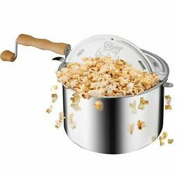 Aluminum Popcorn Original Spinner Stovetop 6 1/2 Quart Popco