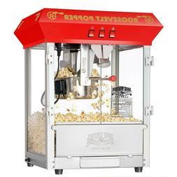 Antique Style Popcorn Popper Machine Countertop NIB Red Movi