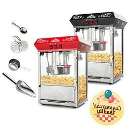 Bar Style Popcorn Machine Maker Popper with 10-Ounce Kettle