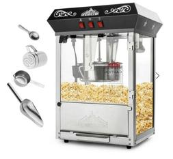 Bar Style Popcorn Machine Maker Popper with Large 10-Ounce K
