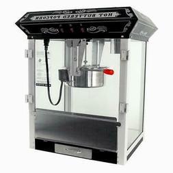 FunTime 8oz Black Bar Table Top Popcorn Popper Maker Machine