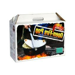Black Open Fire Pop Popcorn Popper Jumbo Popcorn Popper Kit