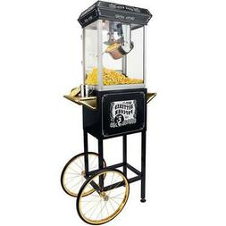 FunTime 8oz Black Popcorn Popper Machine Maker Cart Vintage