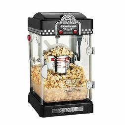 Great Northern Popcorn Black Tabletop Retro Style Compact Po