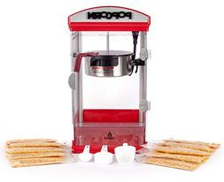 Carnus Home Popcorn Machine with Portion Packs | Features Po
