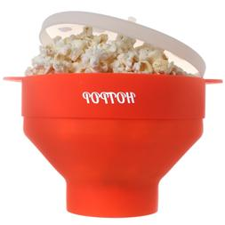 Collapsible Microwave Popcorn Snack Popper Maker with Lid an