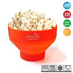 Premium Collapsible Pop Corn Popper Bowl - Microwave Hot Air
