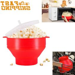 Collapsible Silicone Microwave Popcorn Popper Maker Containe