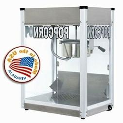 Commercial 6 oz Popcorn Machine Theater Popper Cart Paragon