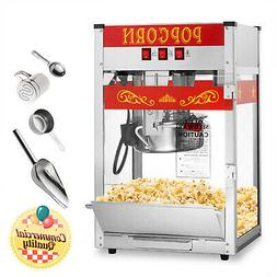 Commercial Popcorn Machine Maker Popper with 8-Ounce Kettle
