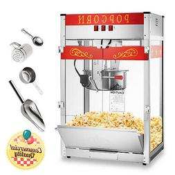 Commercial Popcorn Machine Maker Popper with Extra Large 16-