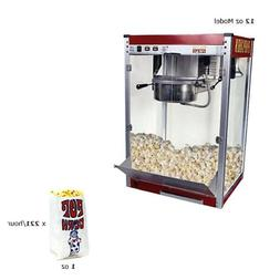 Commercial Popcorn Machine Maker - 16 oz. Kettle Popper Movi