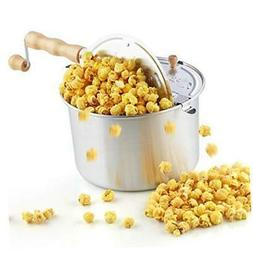 Cook N Home 02626 6 Quart Aluminium Stovetop Popcorn Popper