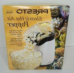 electric hot air popcorn popper white model