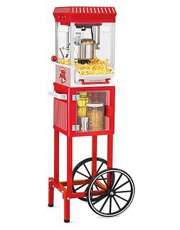 Electric Popcorn Cart Machine Popper Maker Stand Vintage Sty