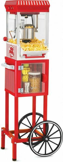 "Nostalgia Electronics Popcorn Cart Machine Popper Maker 48"""