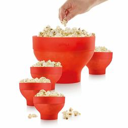 Lekue Extra-Large Popcorn Maker And 4 Bowls For Compact Stor