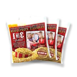 Fun Time FT812 Perfect Popcorn 8 oz 3-in-1 Pack, 12 Pack
