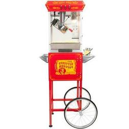 FunTime FT862CRS Sideshow Popper Hot Oil Popcorn Machine wit