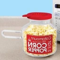 Catamount Glassware CG4526 Classic Design Microwave Corn Pop