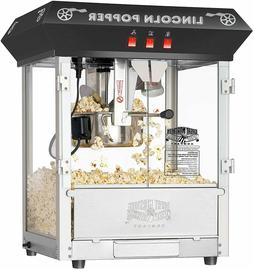 Great Northern Popcorn Black Bar Style Lincoln 8 Ounce Antiq