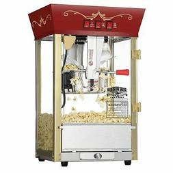 Great Northern Red Antique Style Popcorn Popper Machine, 8 O