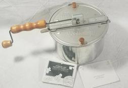 Whirley Pop Hand Crank Stove Top StoveTop Popcorn Popper Mak
